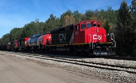 CN dual fuel locomotives, Alberta Canada